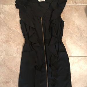 Black zipper formal/business dress